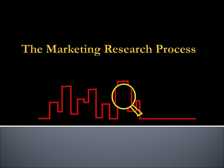 M arketing research process