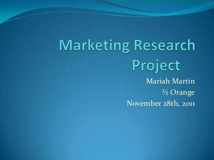 Marketing research project survey powerpoint