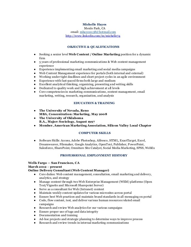 marketing communications  u0026 analyst resume  cv