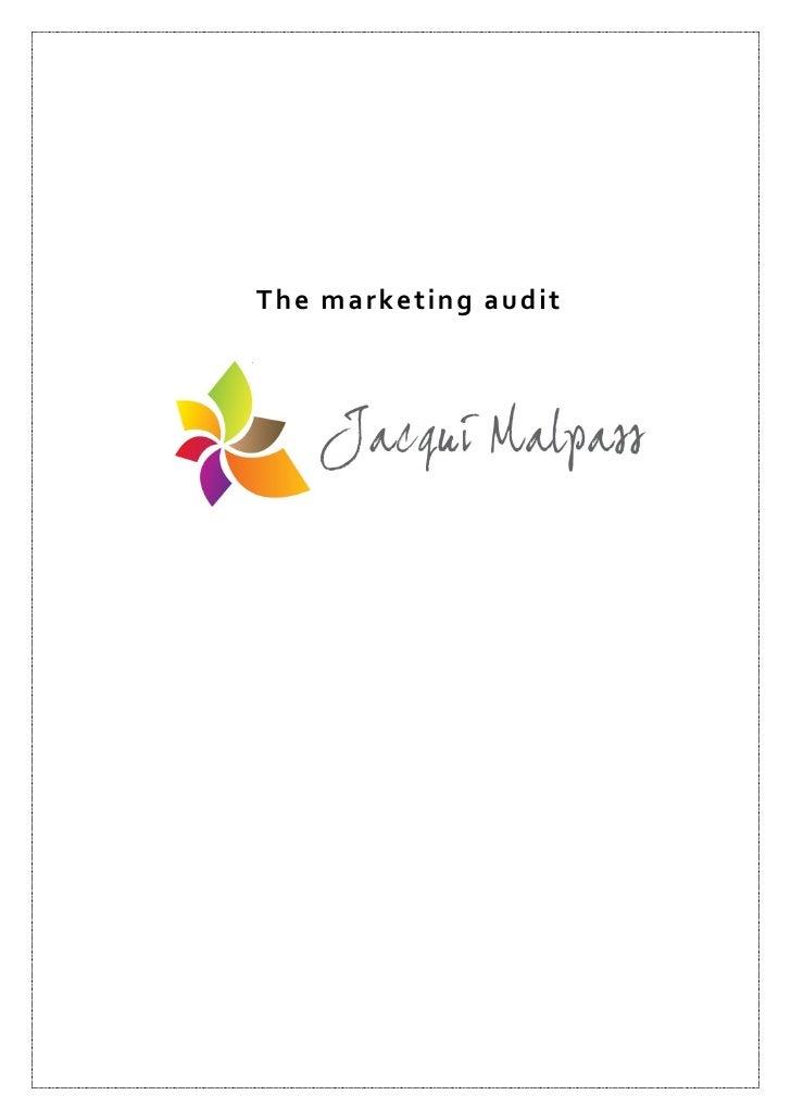 The marketing audit