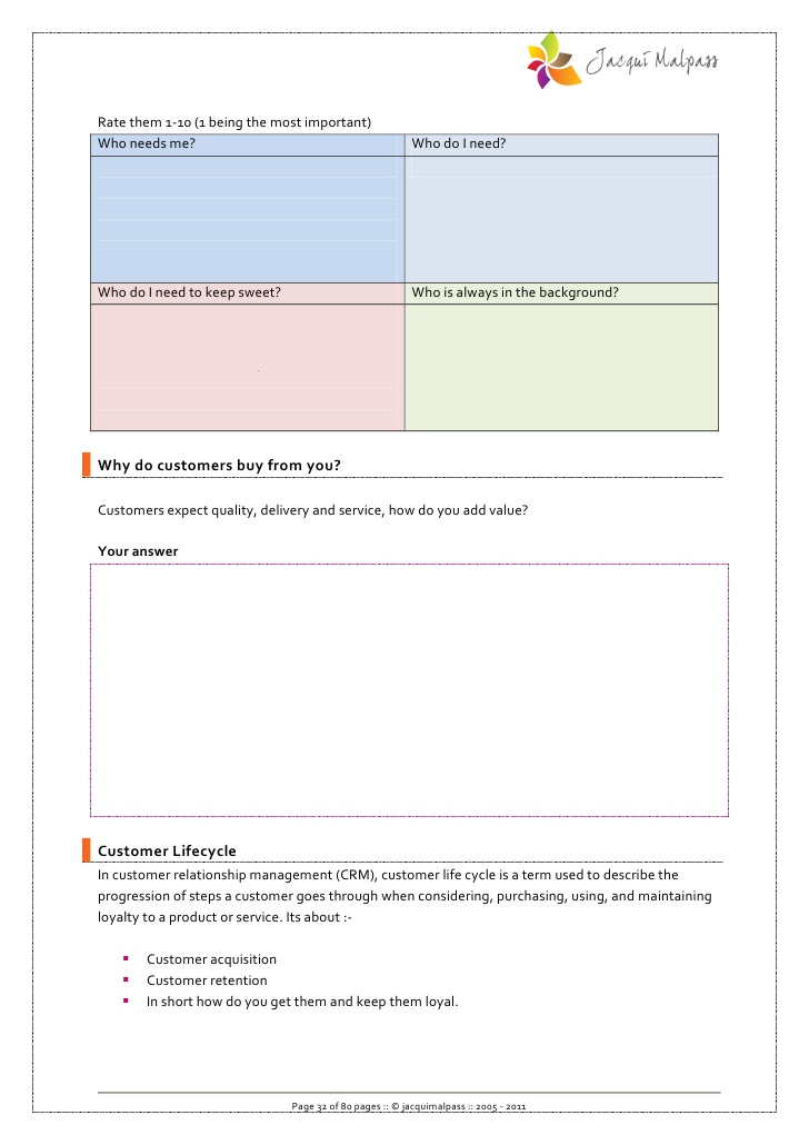 Marketing review workbook