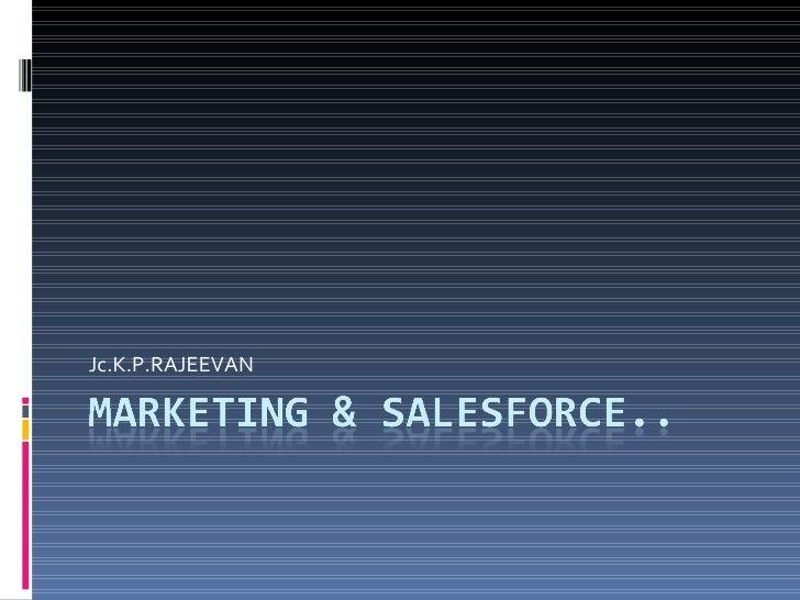 Marketing & Salesforce..