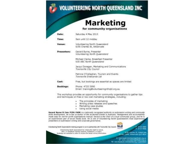 Marketing Saturday 4 May 2013