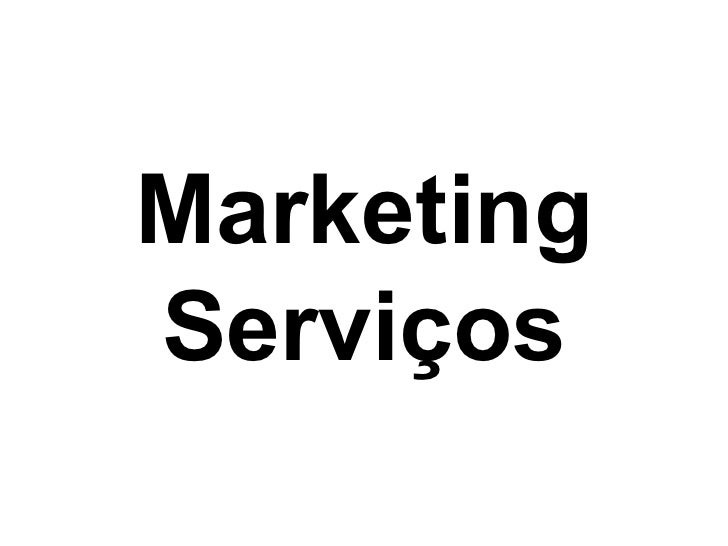 MarketingServiços