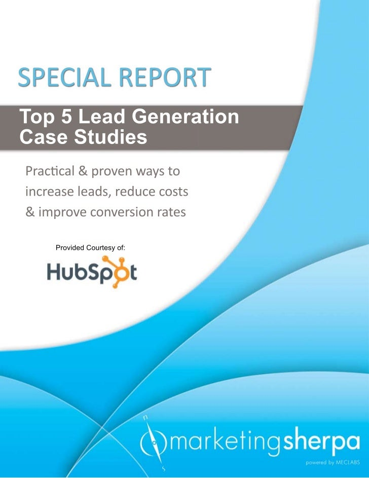 Marketingsherpa Top 5 Lead Gen Case Studies
