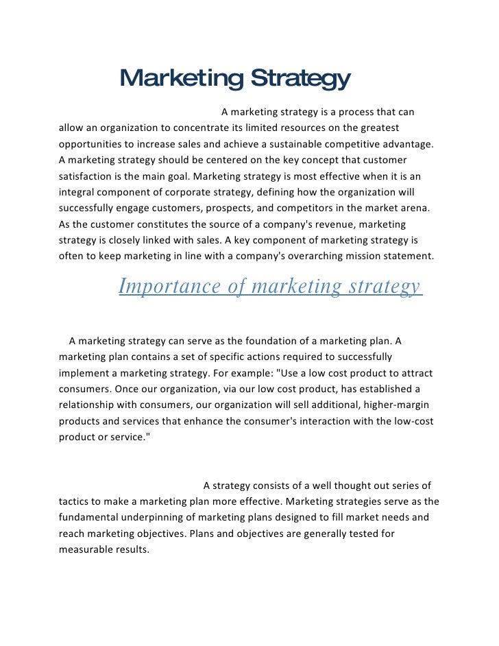 Marketing Stategy