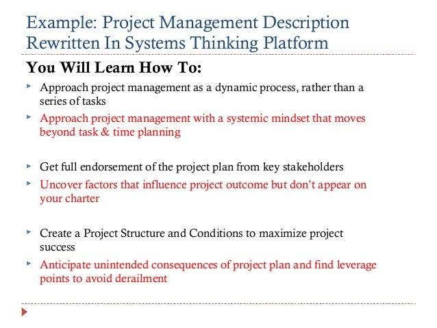 Example Project Management