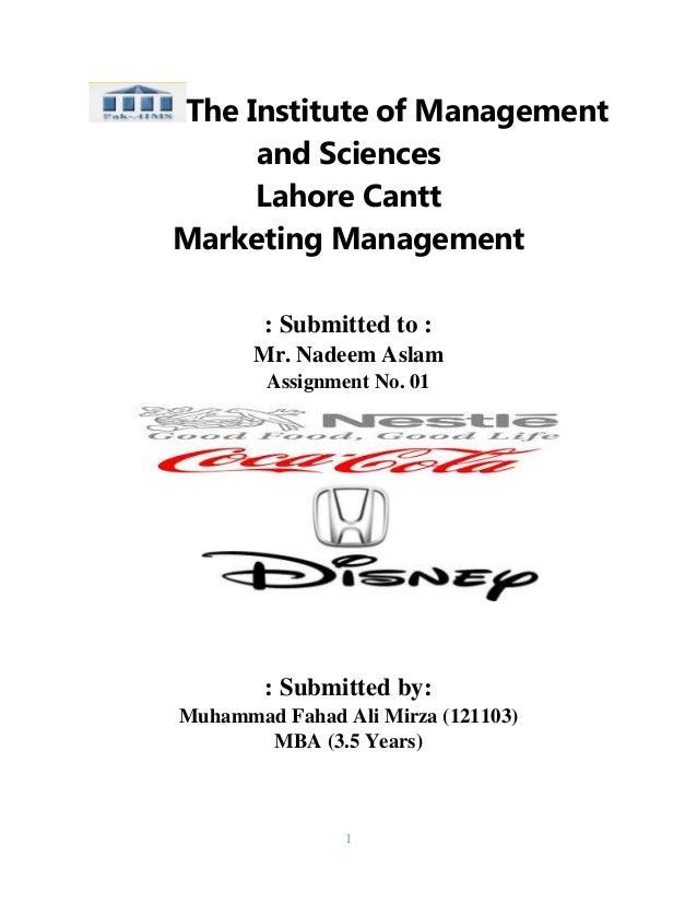 Marketing strategies of Coke, Disney, Honda & Nestle