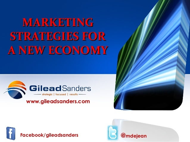 Marketing Strategies For A New Economy