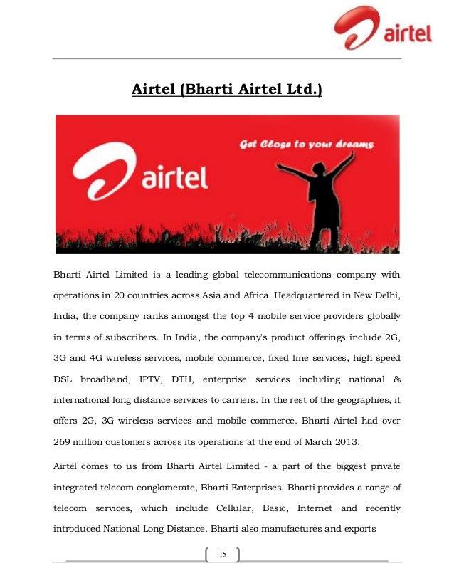 customer services in bharti airtel ltd Bharti airtel has launched 4g services in 6 new towns – rajpura, nabha, zirakpur, kharar, rayya and chaheru in the punjab circle the telco also expanded 4g services in 9 existing towns – panchkula, jalandhar, amritsar, ludhiana, hoshiarpur, kapurthala, phagwara, bathinda and moga in the state of punjab.