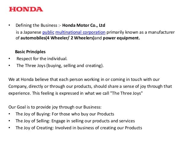 honda marketting strategy Marketing of honda motorcycles in the usa, free study guides and book notes including comprehensive chapter analysis, complete summary analysis, author biography information, character profiles, theme analysis, metaphor analysis, and top ten quotes on classic literature.