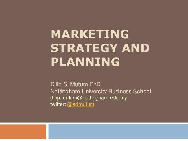 University marketing strategy