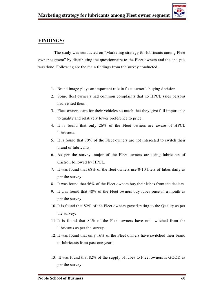 marketing questionnaire example