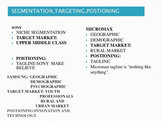sony market segments Effective market segmentation requires an understanding of the market and the skilled art of finding the appropriate segments trc gives four examples of this method's application with results.