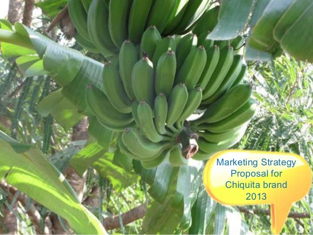 Marketing strategy proposal for Chiquita brand 2013