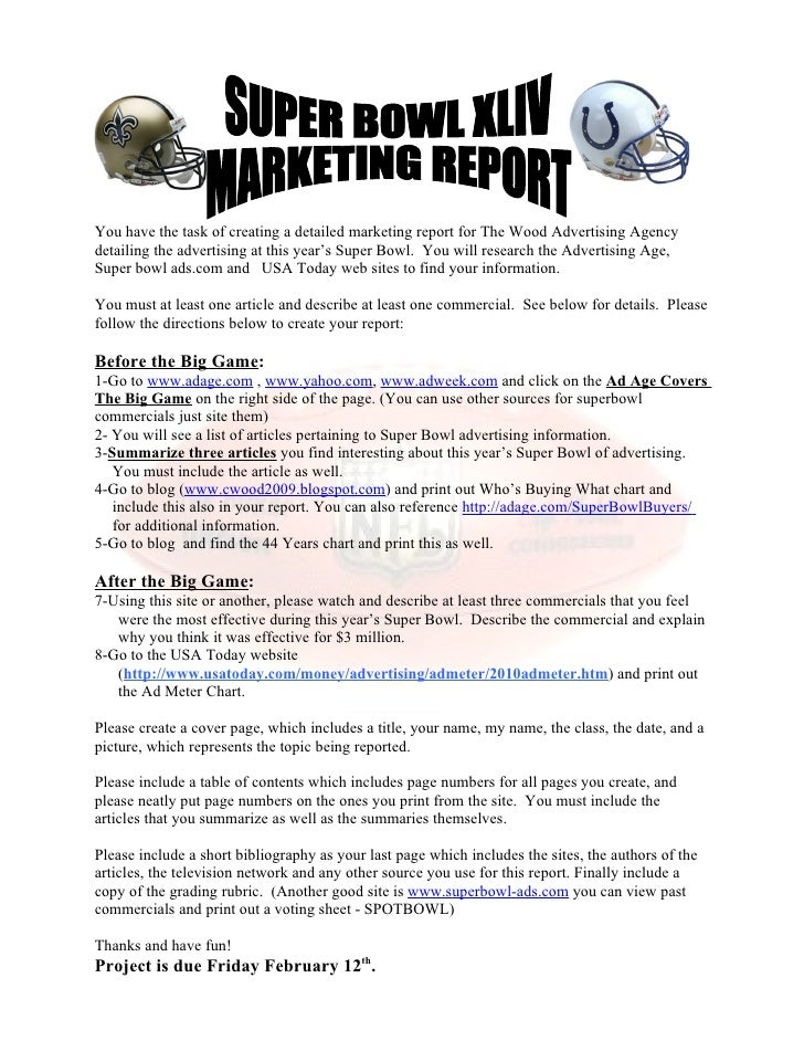 You have the task of creating a detailed marketing report for The Wood Advertising Agency detailing the advertising at thi...
