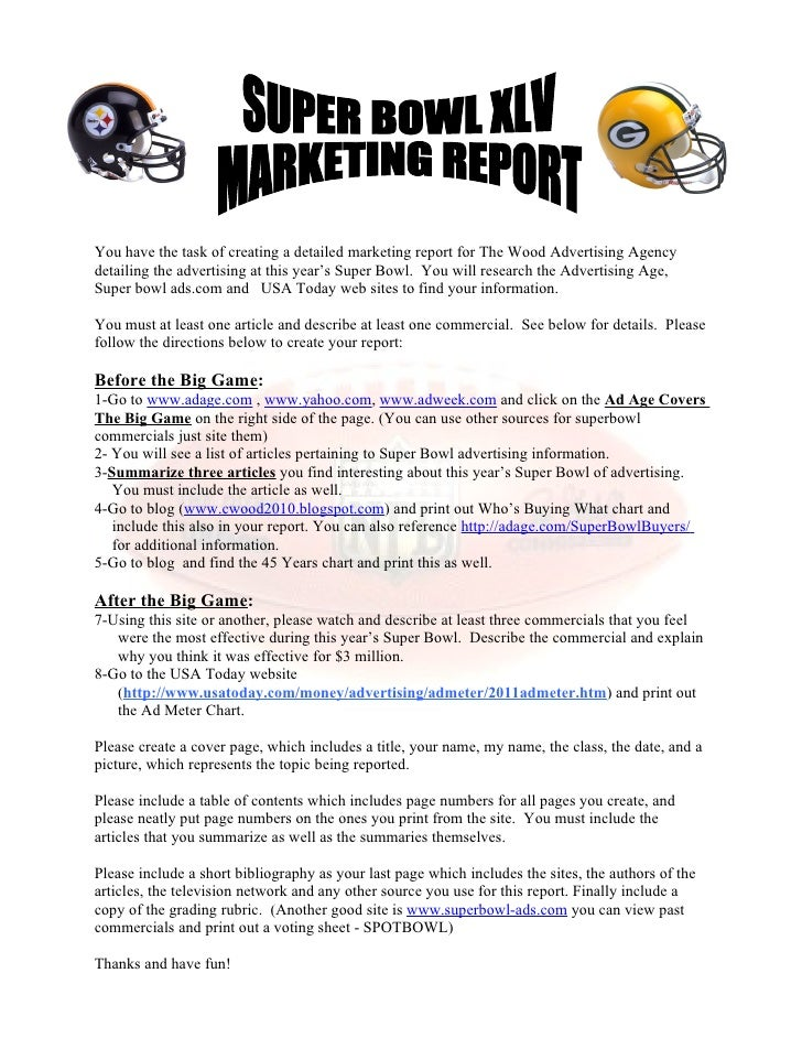 Marketing super bowl project 2011