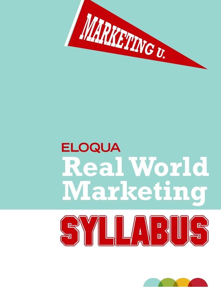 Marketing syllabus