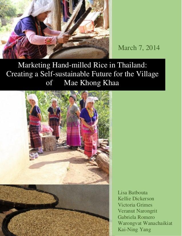 Marketing Thai Rice