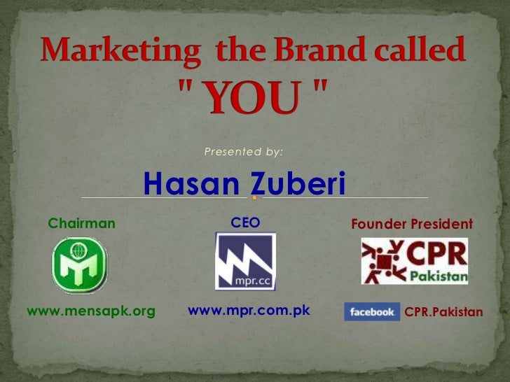 Marketing the brand called YOU