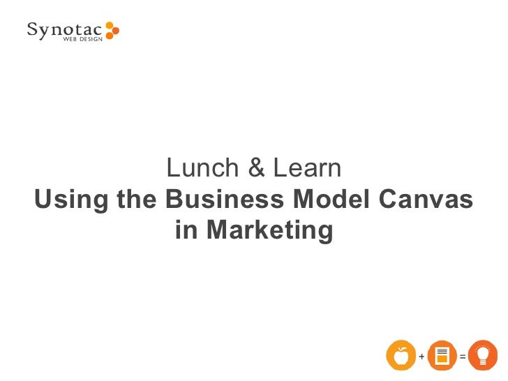 Lunch & LearnUsing the Business Model Canvas           in Marketing