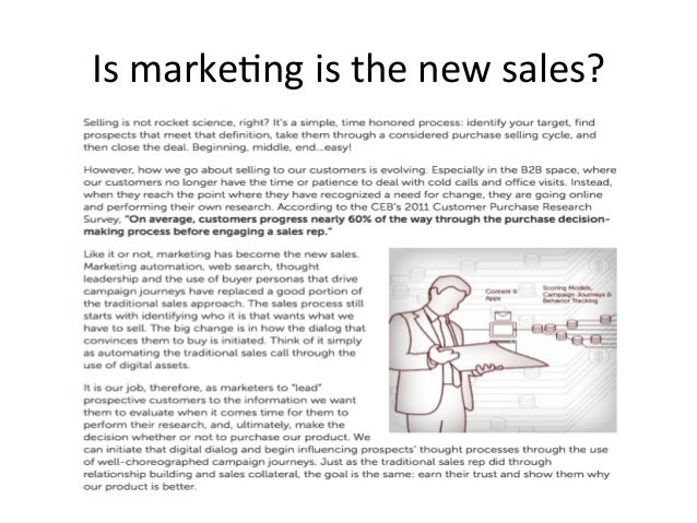 Marketing the new sales?