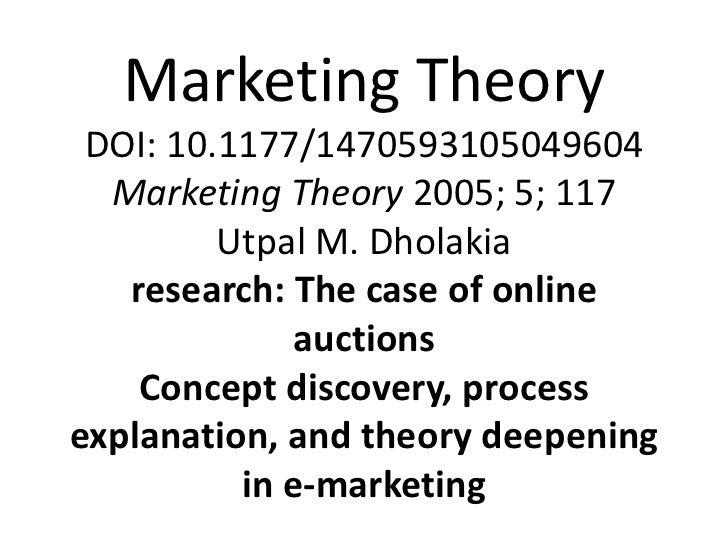 Marketing Theory DOI: 10.1177/1470593105049604  Marketing Theory 2005; 5; 117         Utpal M. Dholakia   research: The ca...