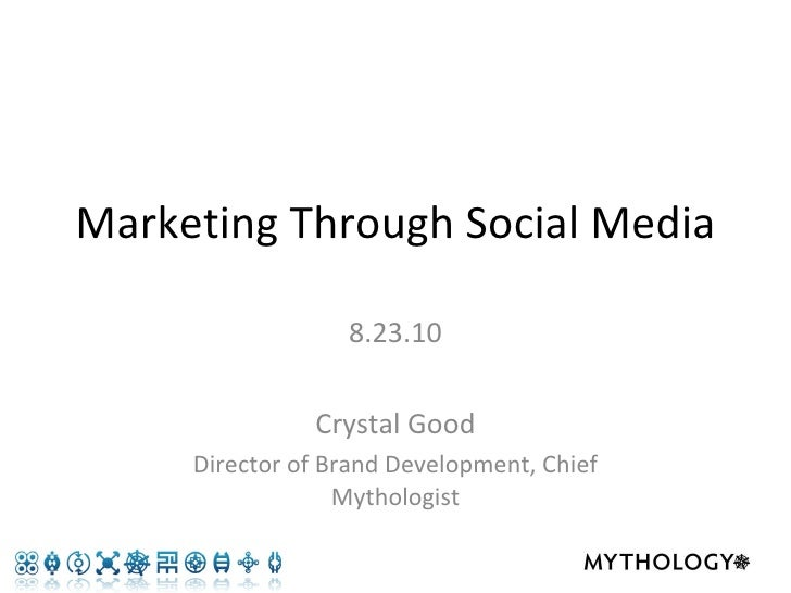 Marketing through social media - the basics