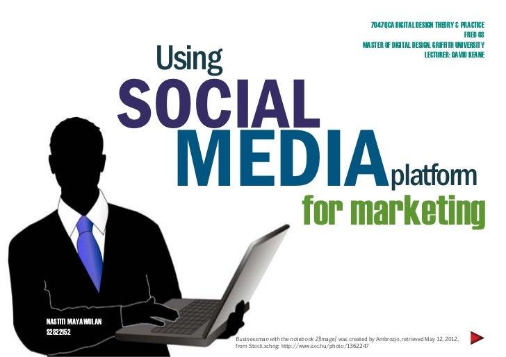 Marketing through social media platform