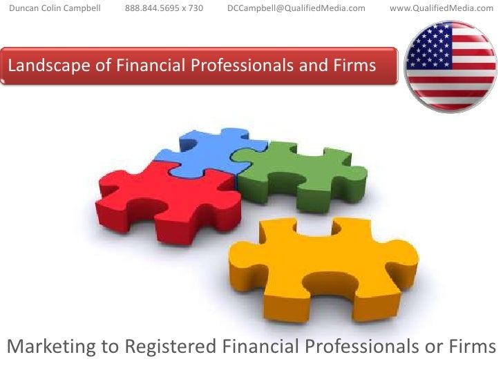Marketing to Financial Professionals<br />