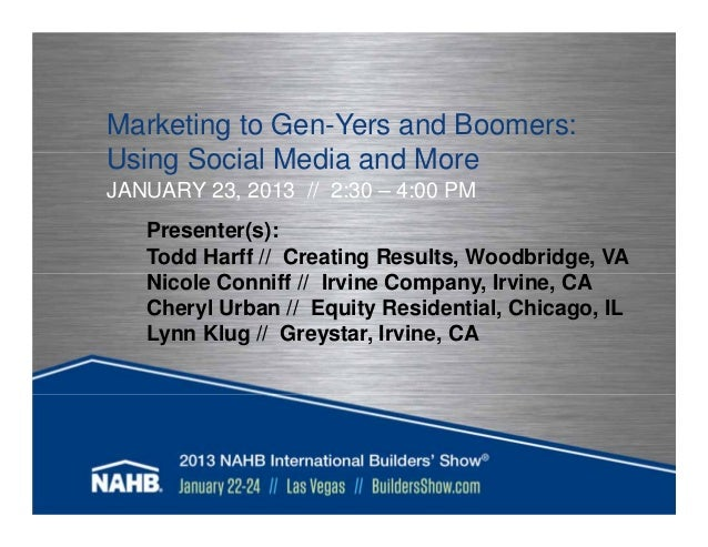 Marketing to gen yers and boomers presentation