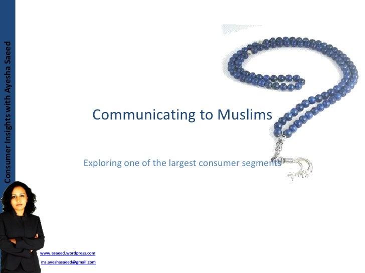 Marketing To  Muslims