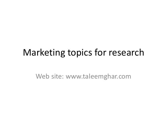 Advertising research topics