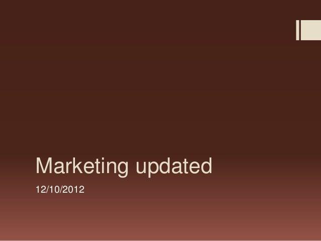 Marketing updated12/10/2012