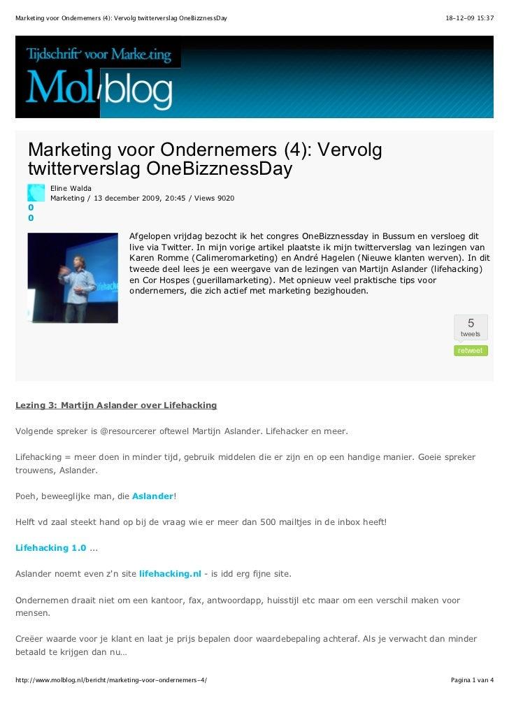 Marketing voor ondernemers 4   vervolg twitterverslag one bizznessday