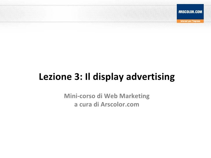 Marketing Web 3: Display Advertising