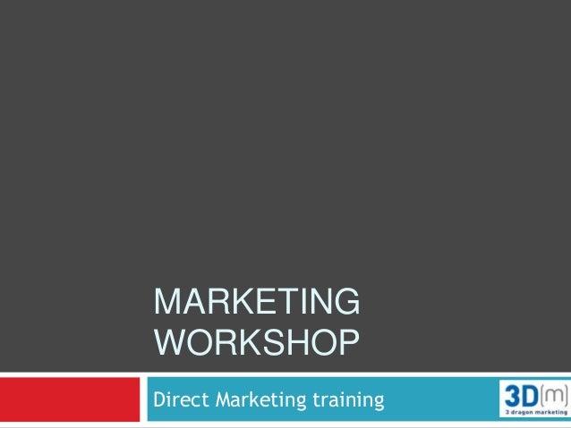 Marketing workshop version for Facilities management client