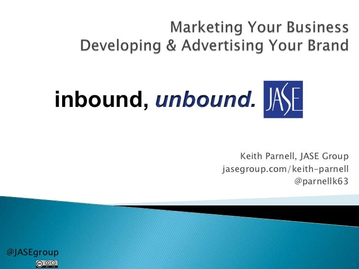 Marketing Your Business . . . Developing & Advertising Your Brand
