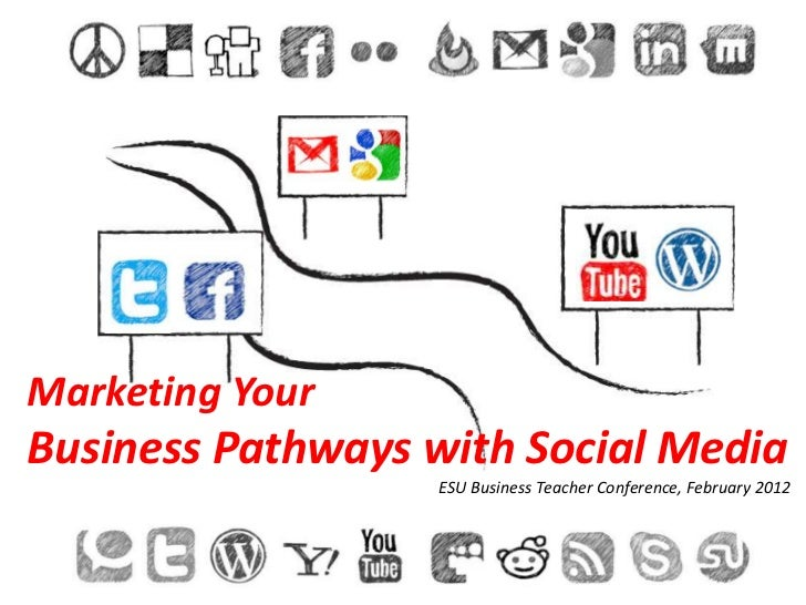 Marketing YourBusiness Pathways with Social Media                  ESU Business Teacher Conference, February 2012