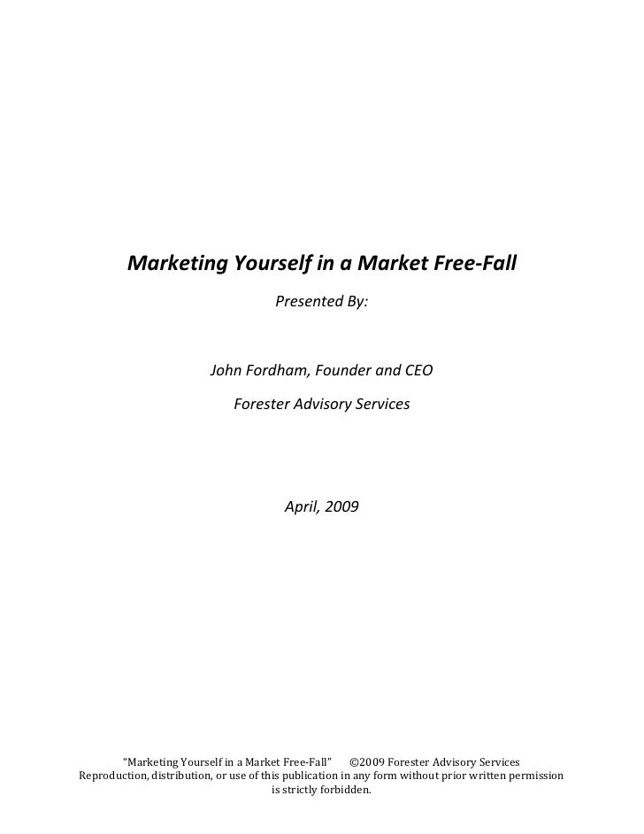 Marketing Yourself In A Market Free Fall