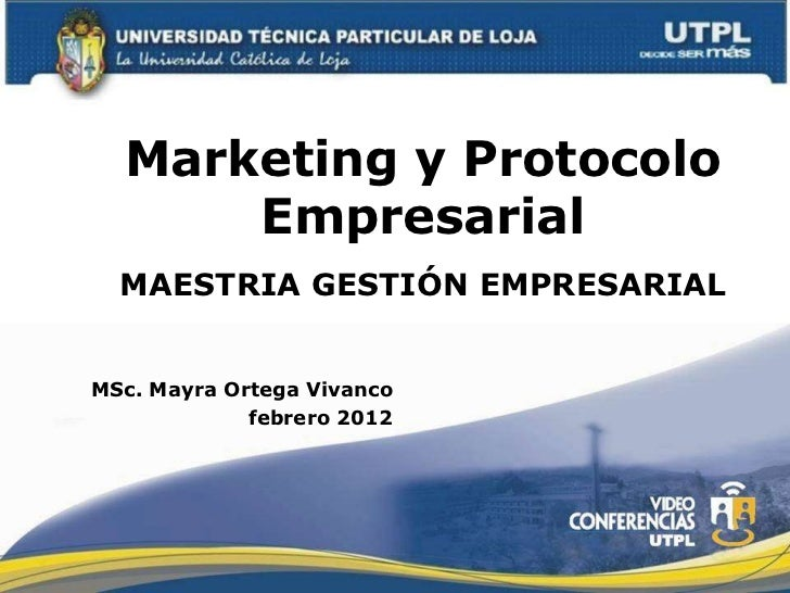 Marketing y protocolo empresarial