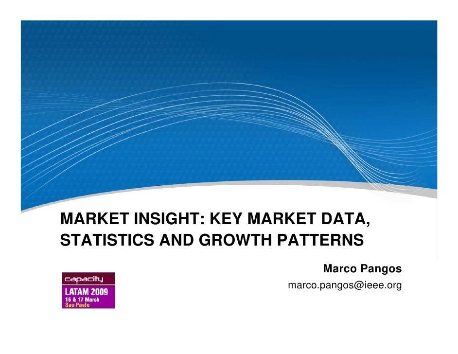 MARKET INSIGHT: KEY MARKET DATA, STATISTICS AND GROWTH PATTERNS                              Marco Pangos                 ...