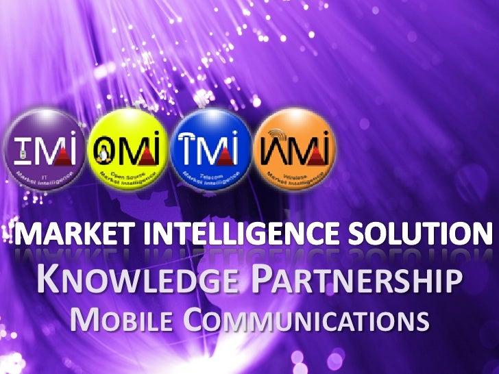 Market Intelligence Solution, Knowledge Partnership