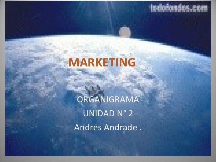 MARKETING ORGANIGRAMA UNIDAD N° 2 Andrés Andrade .
