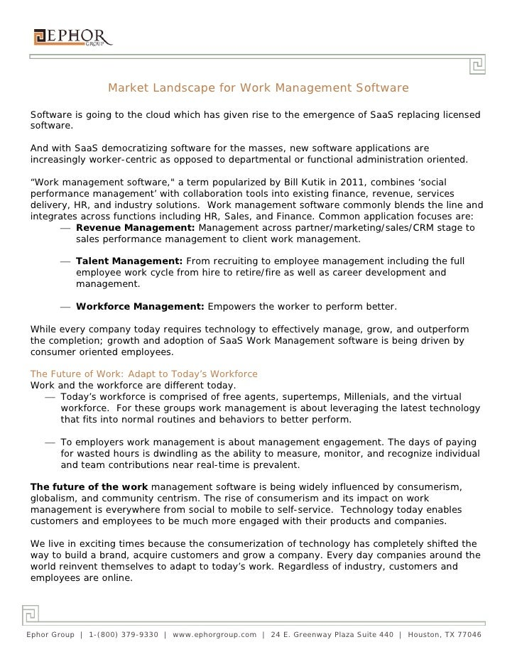 SaaS Work Management Software Market Comparison