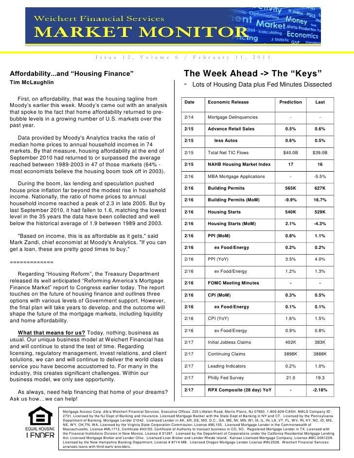 Market Monitor Feb. 11, 2011