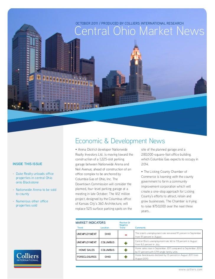 Columbus OH Market News October 2011