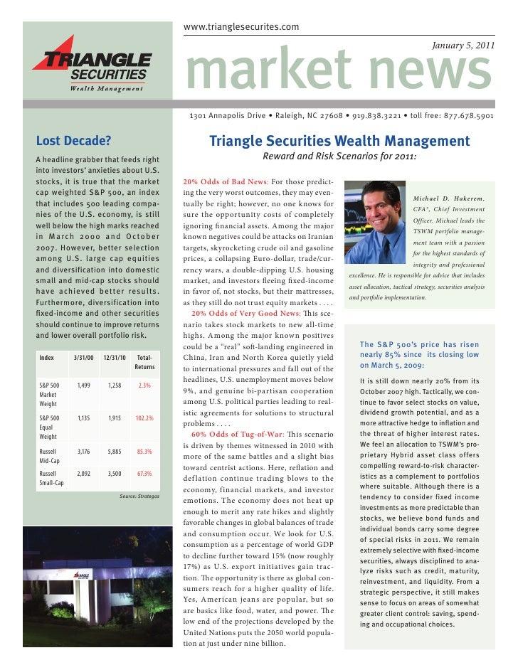 Market News Jan 2011