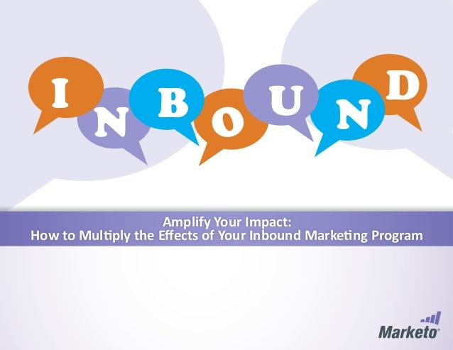 Amplify Your Impact:How to Multiply the Effects of Your Inbound Marketing Program