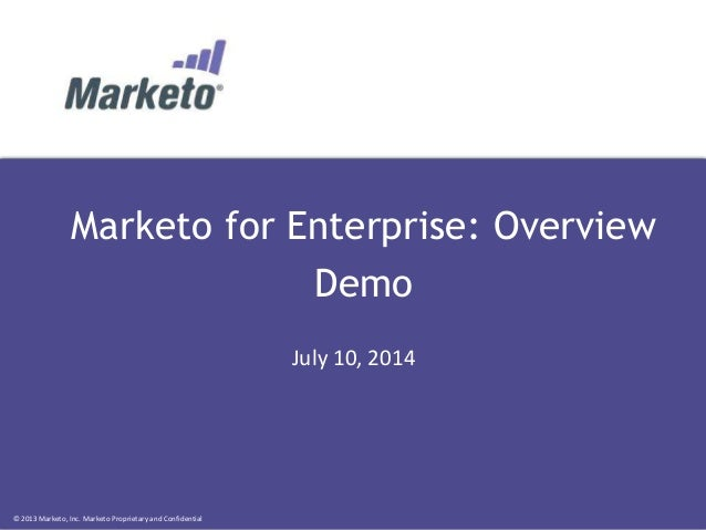 Marketo for Enterprise: Overview Demo